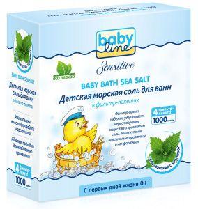 BABYLINE SENSITIVE Морская соль с крапивой 1000гр. (4*250гр.) фильтр-пакет