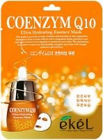 EKEL ULTRA HYDRATING ESSENCE MASK Q10  Ультраувлажняющая тканевая маска для лица с коэнзимом Q10, для всех типов кожи 25г.