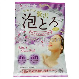 COW  Ароматическая пенящаяся соль для ванны с коллагеном и гиалуроновой кислотой «Жасминовая тиара» 30гр.