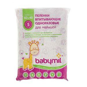 BABYMIL Пеленки впитывающие 60*60 см Оптима 30шт+ Эконом 60*40 5шт (А)