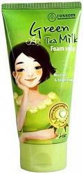 """MUKUNGHWA    """"Rossom""""   Пенка для умывания с экстрактом зеленого чая и молока """"Green Tea Milk""""  туба, 150мл"""