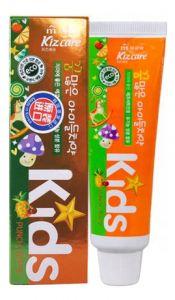 """MUKUNGHWA  Детская гелевая з/паста с ярким тропическим вкусом с 2 лет """"Kizcare Kids"""" 75гр."""