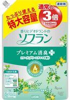 LION Soflan Кондиционер для белья с цитрусовым ароматом, мягкая упаковка, 1440 мл (А)