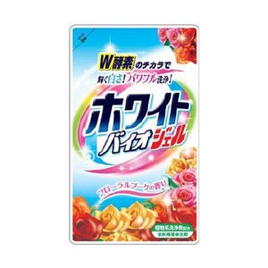 """NIHON   """"White Bio Plus gel""""  Жидкий гель для стирки с отбеливающим и смягчающим эффектом,  цветочный аромат,  МУ,  запаска  810гр."""