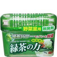KOKUBO Дезодорант-поглотитель неприятных запахов, экстракт зелёного чая, для холодильника (овощная камера),150г (А)