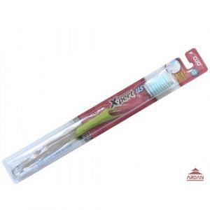 Clio  X-pert   Зубная щетка с мягкой ультратонкой щетиной и антибактериальной обработкой, для комплексной защиты зубов (мягкая).