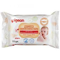 Влажные салфетки детские PIGEON для рук и рта, пустышек, игрушек, 25 шт (А)