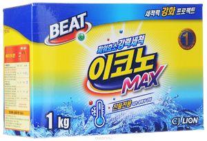 CJ Lion   Beat Econo Max   стиральный порошок для автоматической и ручной стирки, коробка 1 кг (А)