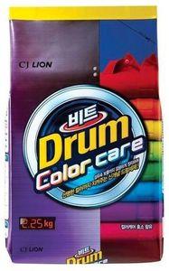 CJ Lion.  Beat Drum Color.  Концентрированный стиральный порошок для автоматической стирки, для цветного белья, м/у 2,25 кг. (А)