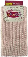LEC  Мочалка для женщин (мягкая с объемными нитями), 23 см х 100 см., Цвет: Розовый