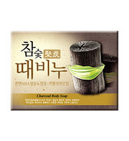 """MUKUNGHWA   Отшелушивающее и глубоко очищающее мыло для тела c древесным углём """"Charcoal Body Soap"""", кусок 100гр."""