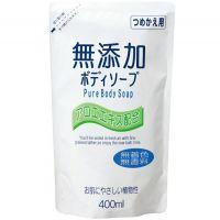 """NIHON  Натуральное бездобавочное жидкое мыло для тела для всей семьи """"No added pure body soap"""" М/У 400мл."""