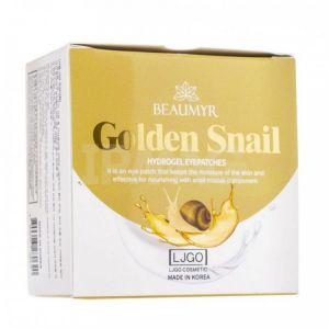JUNO Beaumyr Golden Snail  Гидрогелевые патчи для кожи вокруг глаз с Золотом и Секретом Улитки, для всех типов кожи 90г.