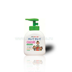 LION Кухонное жидкое мыло для рук KireiKirei с антибактериальным эффектом и маслом апельсина, флакон 250 мл.