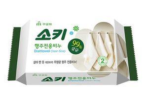 MUKUNGHWA,  Dishtowel Clean Soap, мыло , для стирки кухонного текстиля и уборки поверхностей, кусок, 150гр.