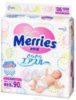 Merries NB подгузники для новорожденных до 5 кг (90 шт.)