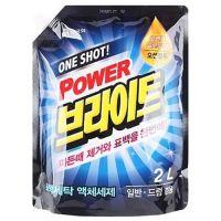 """MUKUNGHWA  Жидкое средство для стирки """"One shot! Power Bright Liquid Detergent"""" с ферментами (очищающее до глубины волокон и придающее яркость) М/У с крышкой 2л."""