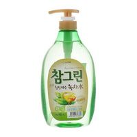 CJ Lion Средство для мытья посуды Chamgreen с ароматом зеленого чая, флакон-дозатор, 960 мл (А)
