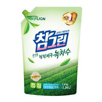 CJ Lion Средство для мытья посуды Chamgreen с ароматом зеленого чая, мягкая упаковка, 1340 мл (А)