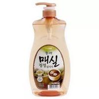 CJ Lion Средство для мытья посуды Chamgreen Японский абрикос, флакон-дозатор, 960 мл (А)