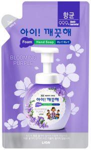 """LION Пенное мыло для рук """"Ai - Kekute"""" Аромат фиалки, с антибактериальным эффектом, зап.блок, 200 мл"""
