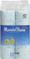"""IDESHIGYO Туалетная бумага двухслойная """"MARIEE CLAIRE"""", голубая с принтом, 27.5 м, 12 рулонов (А)"""