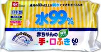 iPLUS Детские влажные салфетки 99,9% воды для рук и лица, 60 шт, мягкая упаковка (А)