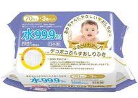 iPLUS Детские влажные салфетки 99,9% воды с гиалуроновой кислотой, рефленые 70 шт, мягкая упаковка (А)