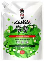 KENSAI Гель высокоэкономичный для мытья посуды и детских принадлежностей с ароматом зеленого чая, мягкая упаковка, 800 мл (А)
