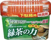 KOKUBO Дезодорант-поглотитель неприятных запахов, экстракт зелёного чая, для обувных шкафов,150 г (А)