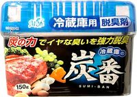 KOKUBO Дезодорант-поглотитель неприятных запахов, с древесным углём, для холодильника (общая камера), 150 гр (А)