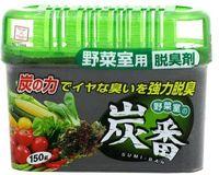 KOKUBO Дезодорант-поглотитель неприятных запахов, с древесным углем, для холодильника (овощная камера), 150 г (А)
