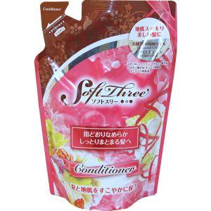 MITSUEI  Soft Three Шампунь с маслом авокадо, ромашкой и экстр. алоэ (смягч., увлажн.) М/У 400мл.