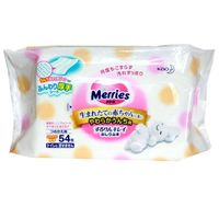 MERRIES Влажные мягкие салфетки, запасной блок, 54 шт (А)