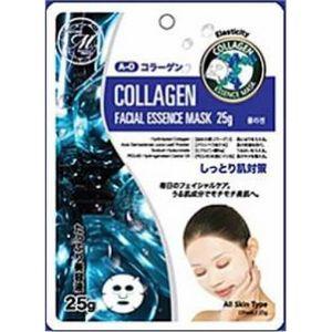 Mitomo Маска для лица Natural 512 с Коллагеном, повышающая эластичность и упругость, 25 гр