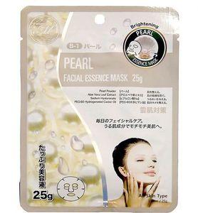 Mitomo Маска для лица Natural 512 Жемчуг, выводящая токсины, 25 гр