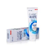 MKH Зубная паста «Classic White» - Отбеливающая зубная паста двойного действия с микрогранулами, аромат мяты и ментола, 110гр/40