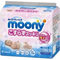 MOONY Влажные гигиенические салфетки для детей, запасной блок, 60 шт. (А)