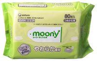 MOONY Влажные мягкие салфетки для детей, запасной блок, 80 шт. (А)
