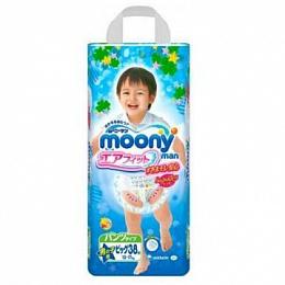 Подгузники-трусики Moony  для мальчиков, 12-17 кг.(38 шт.)   D
