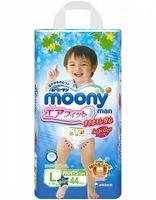 MOONY трусики для мальчиков  L (9-14 кг) 44 шт (А)