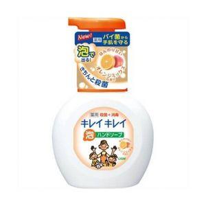 LION Kirei Kirei Пенное мыло для рук с ароматом апельсина, флакон-дозатор, 250 мл (А)