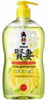 KENSAI Гель высокоэффективный для мытья посуды, овощей, фруктов, детских принадлежностей с ароматом Японского лимона, 540 мл