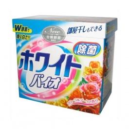 Стиральный порошок с кондиционером White Bio Plus Antibacterial, цветочный аромат, коробка 0,9кг
