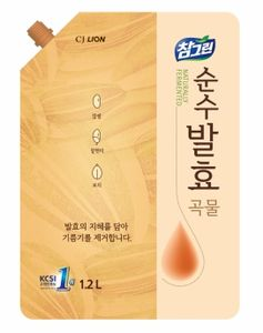 "CJ Lion Средство для мытья посуды Chamgreen Pure, ""5 злаков"", м/у 1200 мл"