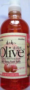 Olive. Гель для душа, пена для ванны с маслом оливы и экстрактом персика, 750 гр.