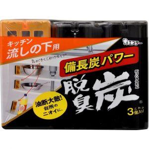 """ST  Поглотитель запахов """"DASHU - TAN"""" для шкафов на кухне (угольный) 3шт*55гр."""