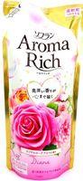 """LION Aroma Rich Кондиционер для белья """"Diana""""с натуральными маслами розы, персика, малины, ванили, запасной блок, 430 мл (А)"""