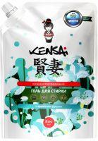 KENSAI Средство моющее синтетическое жидкое (концентрированный гель) для стирки белого белья с ароматом фрезии 800 мл (А)
