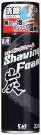 KAI-RAZOR.  Пена для бритья и умывания  с углем,   220 гр.